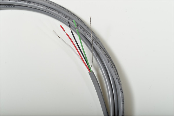 Photo of stripped multi conductor electronic cables