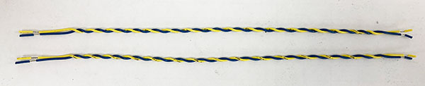 Photo of pre cut twisted wire.